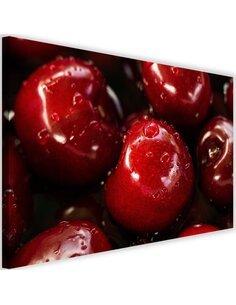 Tableau Cherries In Water Drops