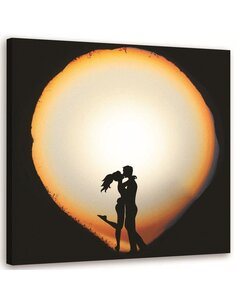 Tableau Kiss On A White Background