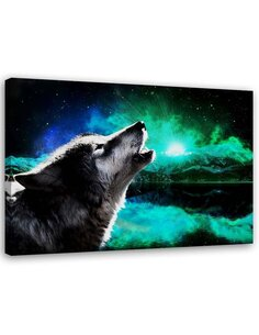 Tableau Abstract Landscape With A Wolf
