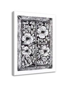 Tableau Sketch Flowers Outside The Window