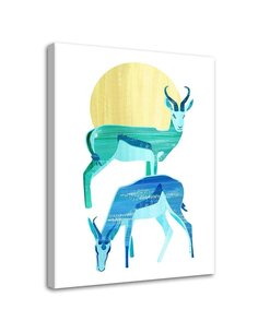 Tableau Two Antelopes