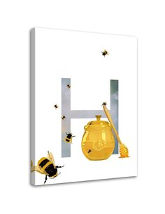 Tableau Bee Honey And The Letter H.