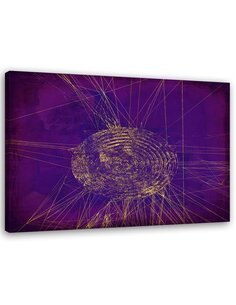 Tableau Violet Abstraction 3
