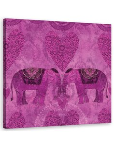 Tableau Elephants, Abstraction