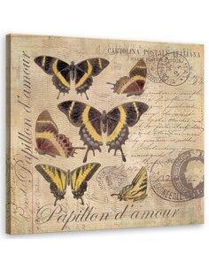 Tableau Retro Graphics Butterflies