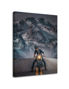 Tableau Motorcyclist On The Road