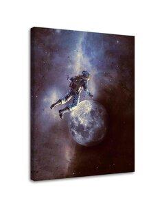 Tableau Cosmonaut Moon And Stars