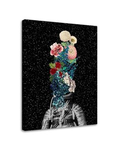 Tableau Cosmonaut And Flowers Collage