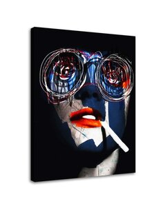 Tableau Abstract Portrait With A Cigarette