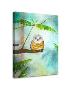 Tableau Owl On A Tree