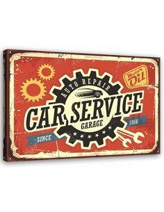 Tableau Retro Car Mechanic