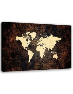 Tableau Brown Map Of The World