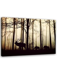 Tableau Deers In The Forest