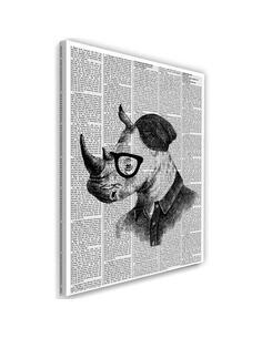 Tableau Rhinoceros In The Newspaper