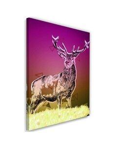 Tableau Deer Nature Abstraction