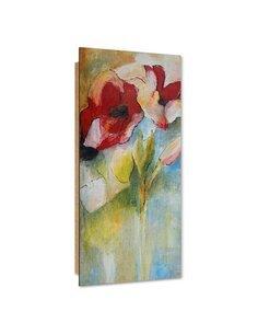 Tableau bois Floristic abstraction