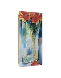 Tableau bois Flowers in a vase image