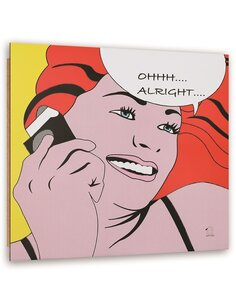 Tableau bois with comic Female