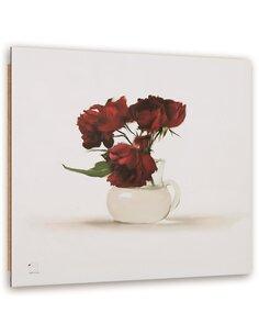 Tableau bois Flowers in a vase