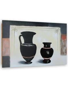 Tableau bois Black vases image