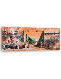 Tableau bois Collage Tuscany