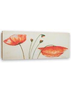 Tableau bois Poppy flowers