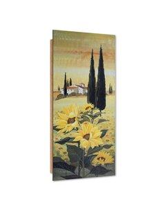 Tableau bois Villa celebrates sunflowers