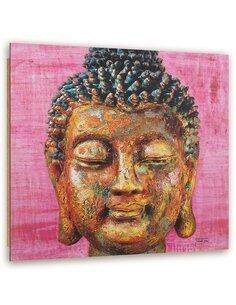 Tableau bois Color Face Buddha