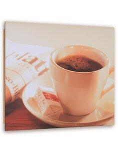 Tableau bois Morning coffee