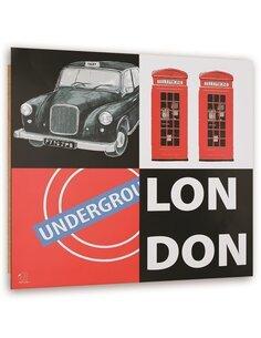 Tableau bois abstraction London