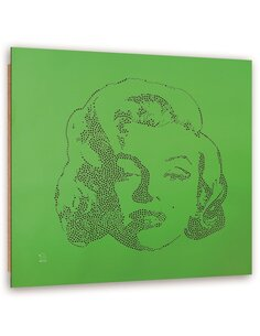 Tableau bois Abstract Marilyn Monroe