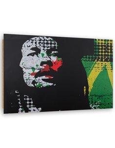 Tableau bois Reggae Bob Marley abstract