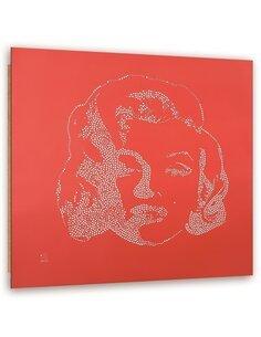 Tableau bois Marilyn Monroe abstraction