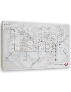 Tableau bois plan of the London Underground