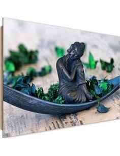 Tableau bois Buddha flakes 2