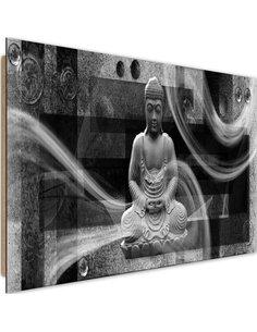 Tableau bois Modern Buddha 3