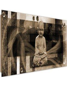 Tableau bois geometric figures of Buddha 4