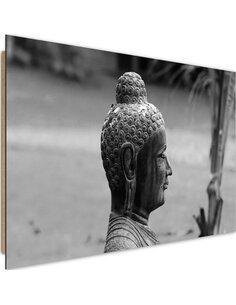 Tableau bois Profile Buddha 3