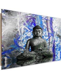 Tableau bois Buddha and bamboo 2