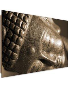 Tableau bois Face sleeping Buddha 4