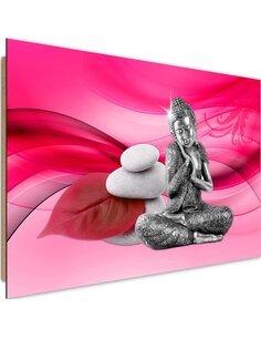 Tableau bois Buddha figure 2