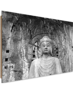Tableau bois before the walls of the temple Buddha 4