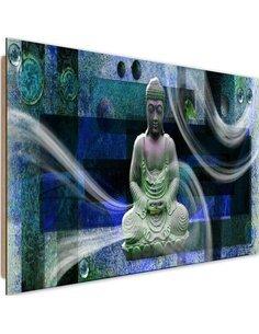 Tableau bois Modern Buddha