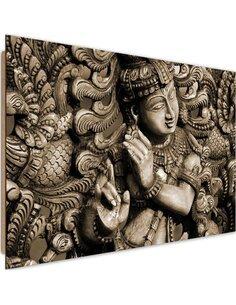 Tableau bois Buddha on the mosaic background