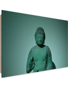 Tableau bois in the shadow of Buddha