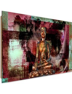 Tableau bois Buddha and abstract background
