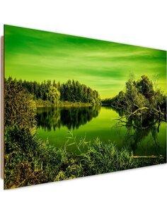 Tableau bois Lake View 4