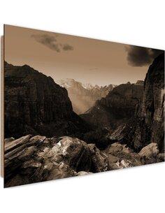 Tableau bois Between the rocks 1