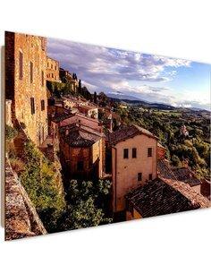 Tableau bois Buildings in Tuscany