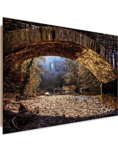 Tableau bois mysterious place under the bridge